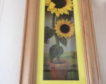3d effect picture of Sunflowers