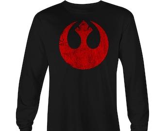 Star Wars Rebel Symbol Long Sleeve T-shirt , Star Wars T-shirt , Star Wars Tee, Rogue One, Star Wars shirt, StarWars Tees, Star Wars Rebels