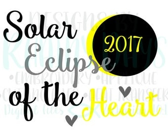 Buy 3 get 1 free! Solar eclipse of the heart 2017 cutting file, solar eclipse 2017 SVG, DXF, png design