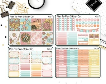 1423~~Easter Glam Weekly Kit Planner Stickers.
