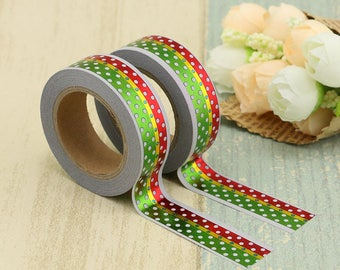 Foil Washi Tape - Foiled Christmas Washi Tape - Christmas washi Tape - Paper Tape - Planner Washi Tape - Washi - Decorative Tape - foiled