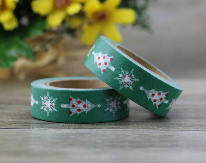 Washi Tape - Christmas Washi Tape - Christmas Tree washi Tape - Paper Tape - Planner Washi Tape - Washi - Decorative Tape - Deco Paper Tape