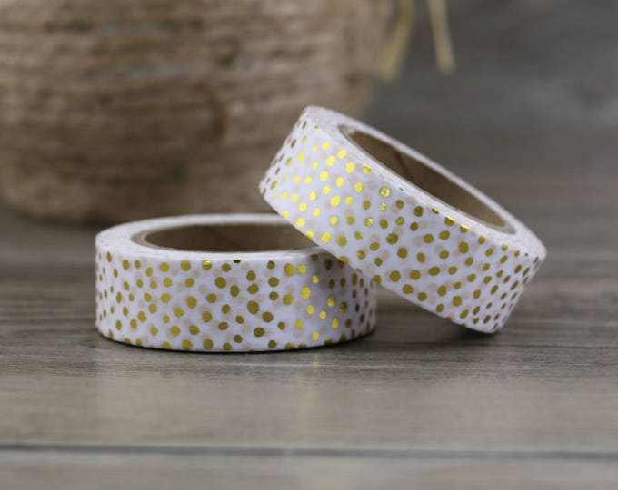 Goil Foiled washi tape - Washi Tape - Polka dot Washi Tape - Paper Tape - Planner Washi Tape - Washi - Decorative Tape - Deco Paper Tape