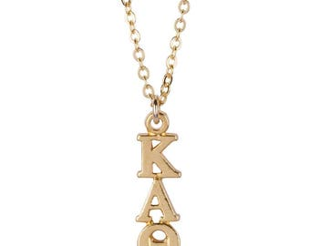 Kappa Alpha Theta Lavalier Necklace in Gold