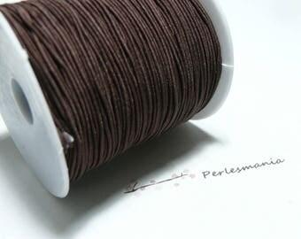 10 meters elastic thread braided 1 mm dark brown