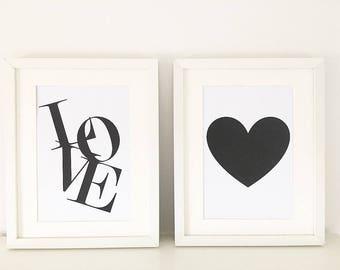 Love, Heart 2 X A4 Prints