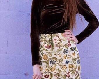 Vintage style carpet 1970s skirt