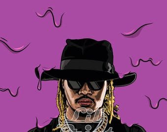 Future original canvas /art work, pop-art/hip-hop *watermark will be removed