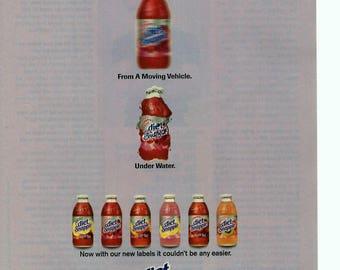 1997 Snapple Diet vintage magazine ad 1706