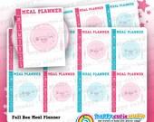 8 Cute Full Box Meal Planner/Food/Meal/Practical Planner Stickers, Filofax, Erin Condren, Happy Planner,  Kawaii, Cute Sticker, UK