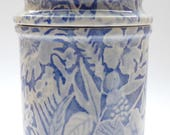 Vintage Burleigh, vintage Jar, Blue and White, Burleigh Straffordshire England, Made in England, No. 1630, ceramic jar, home decoration