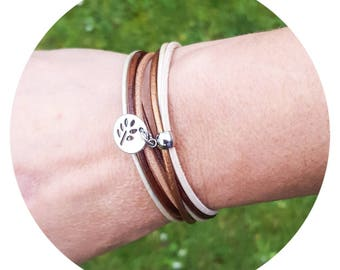 Shades of brown leather Cuff Bracelet