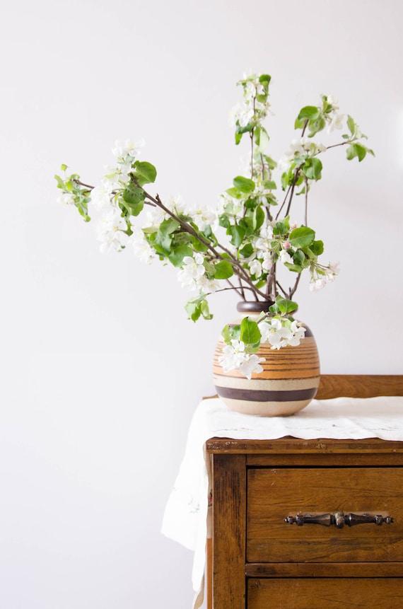 Vintage ceramic flower vase, vintage pottery