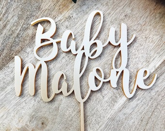 Baby Shower Personalised Cake Topper Cake Decoration Cake Toppers Toppers Baby Shower Cakes Personalised topper Baby shower cake SPMG