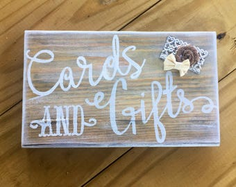 Rustic Gift and card Sign, Gift Table Sign, Wood Gift Sign, Wedding Signage, Rustic Wedding Sign