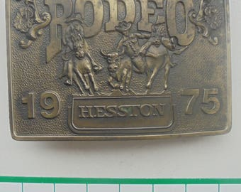RARE 1975 Hesston Nation Finals Rodeo belt buckle