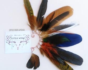 Ear Cuff Feather Ear Cuff Feather Earrings Tribal Ear Cuff Hair Accessories Hippie Native american Indian Boho Statement Jewelery Festival