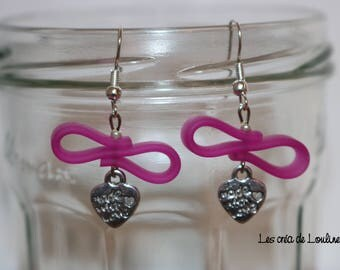 Earrings pink silicone