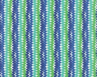 Moda - Good Karma by Stephanie Ryan - Rick Rack - Pond- 7215 12 - 100% cotton fabric by the yard