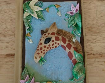 Gerard the Giraffe, Journal, Notebook, Sketchbook, Giraffe, Nature,
