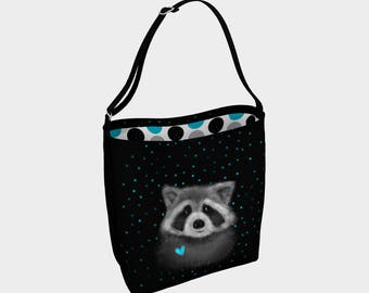 """Raccoon"" shoulder bag"