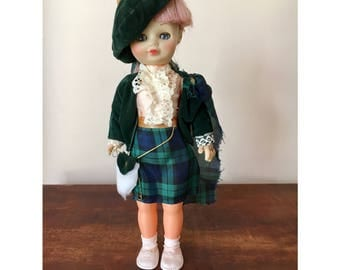 Vintage scottish doll in traditional dress