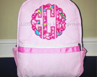 Lilly Inspired Applique Backpack