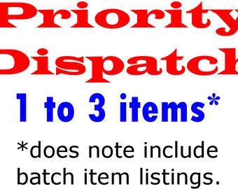 Priority dispatch - Small order (1-3 items)