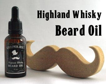 Beard Oil Whisky Father Day Scottish Jack Daniels Bourbon Moustache Mens Grooming Whiskey Comb Male Shaving Vegan Natural Facial Hair