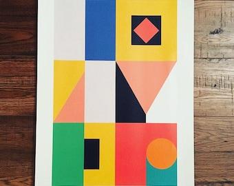 Modern art poster / Digital art / abstract poster / A3 / geometric art