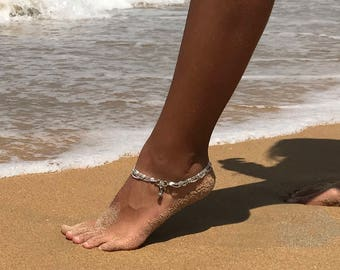Gypsy anklet by Barefoot Gypsea silver plated anklet, payal, sold separately barefoot hippie, hippy boho jewellery