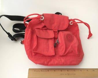 Vintage Kipling Mini Backpack/90s Backpack/Red Backpack/Mini Backpack/90s Mini Backpack/Kipling