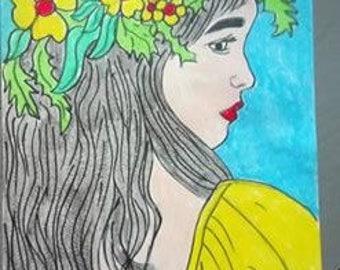 Hawaiian girl design