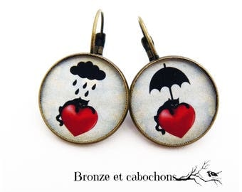 "Earrings ""weather for the cat"""