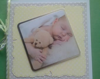 New baby handmade card