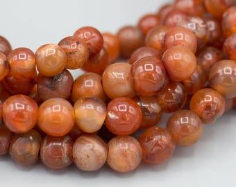 100 Old Mali Carnelian Graduated African Trade Beads  6-11mm Boho Bohemian Jewelry Supply