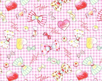 Pink Sweets Cotton Oxford fabric
