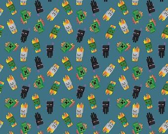 Mojang Minecraft Mini Mobs Cotton Fabric