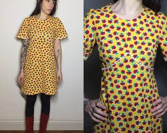 Seventies sunny babydoll dress
