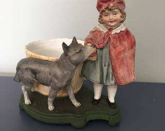 Victorian Little Red Riding Hood and the Wolf ornament German