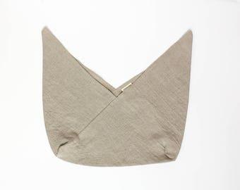 azuma bukuro linen bag / bento bag / origami / reusable gift wrap / natural