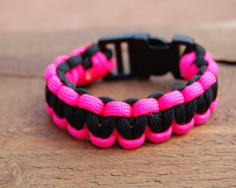 Bracelet parachute fuchsia and black