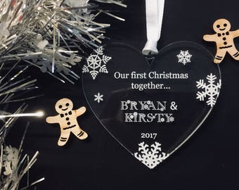 Personalised Couple's First Christmas Tree Decoration Christmas Gift