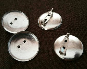 Set 4 cabochon silver plated