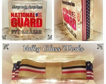 National Guard lighted glass block