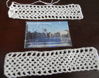 VINTAGE and IN: 2 doilies crocheted about 15 cm x 3 cm approximately