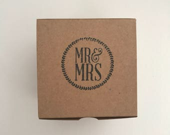 10 Mr & Mrs Favor Box - Wedding Favor Box - Thank You Favor Box - Bridal Favor Box - Party Favor Box - Gift Box - Favor Boxes - Gift Boxes