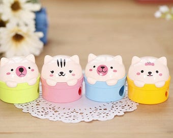 Cute Sharpeners / School Supplies / Back To School /  Pencil Sharpeners / Cat Sharpeners / Double Sharpeners / Cute Animals / Stationery