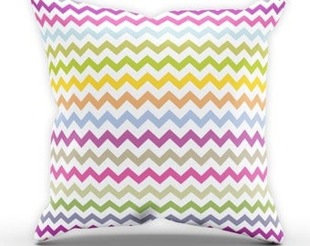 Velvet Finish Cushion, Multicolour Chevron Cushion, Abstract Cushion, Bedroom Cushion, Wallpaper Cushion, Home Wear, Decor, C26