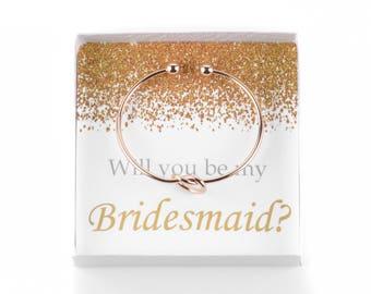 Will You Be My Bridesmaid, Bridesmaid Proposal, Knot Bracelet, Be My Bridesmaid Gift, Wedding Party Gifts, Ask Bridesmaids, Bridesmaid Gifts